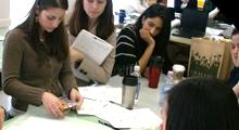 Students designing